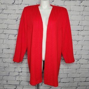 Vintage Super Bright Red Cardigan